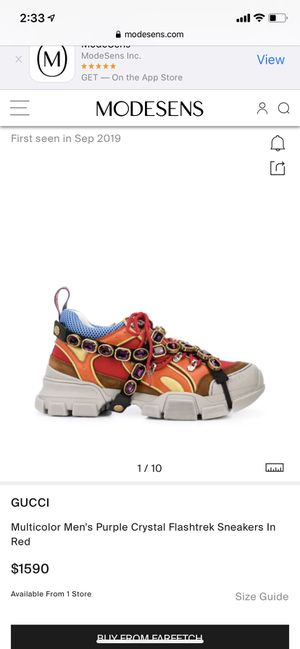 Gucci Flashtrek Leather With Crystals 'Orange' for Sale in Fort Lauderdale, FL