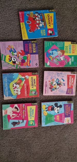 Vintage Disney Comic Books for Sale in Victorville, CA