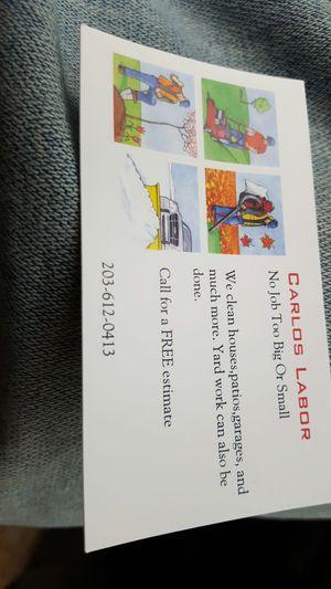 Carlos labor for Sale in Bridgeport, CT