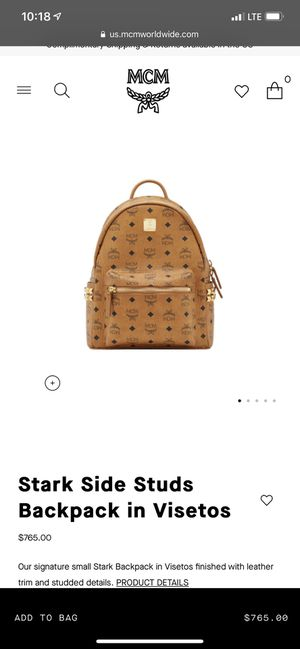 MCM Cognac Backpack Large w studs for Sale in Anaheim, CA