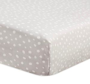 New grey and white polka dot fitted crib sheet baby bed for Sale in Henderson, NV