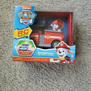 Paw Patrol Rc Remote Marshall Fire Truck for Sale in Turlock, CA