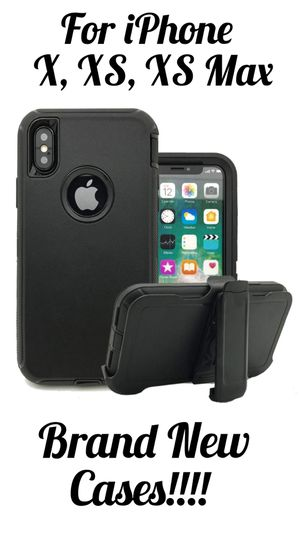 For Apple iPhone XS Max iPhone X Case Universal Clip Fit Otterbox Defender Serie!! ******TEMPERED GLASS AVAILABLE ******** for Sale in Fontana, CA