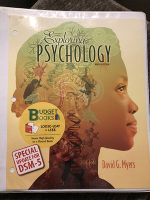 Exploring Psychology (Ninth Edition) David G. Myers for Sale in Los Angeles, CA