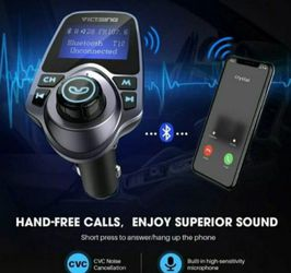 Bluetooth In-Car Wireless FM Transmitter MP3 Radio Adapter Car Kit 2 USB Charger for Sale in Kent,  WA