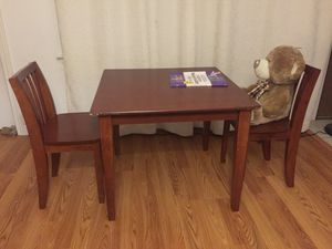 Wooden kids table with 2 chairs for Sale in San Jose, CA
