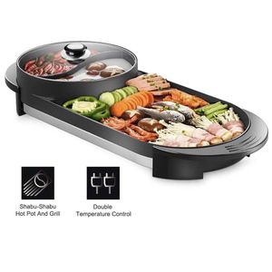 Professional Electric 2 in 1 BBQ Hot Pot Korean BBQ Grill with Electric BBQ Pan and Hotpot for Sale in La Habra, CA