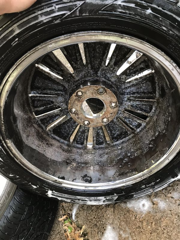 20 inch rims -needs new tires