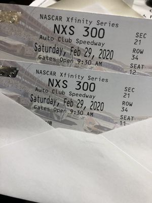 NASCAR event in Fontana speedway this Saturday for Sale in Fontana, CA