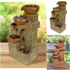 4-Tier Pouring Pots Table Fountain Outdoor Indoor Brown for Sale in New York, NY