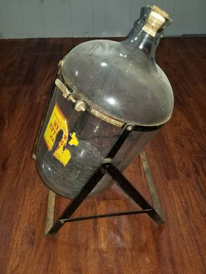 Antique Glass Jug on Stand for Sale in Pittsburgh, PA
