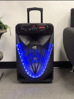 "15"" inch reachargable Bluetooth karaoke speaker with microphone and remote control for Sale in Tracy, CA"