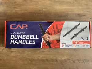 "CAP Barbell 14"" Threaded Standard Dumbbell Handles ( Pair ) for Sale in Pinellas Park, FL"