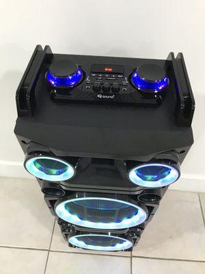 Speaker Bluetooth,3000w,radio,1🎤karaoke,recargable para la playa😎,USB,AUX,rueda,luz LD for Sale in Miami Springs, FL