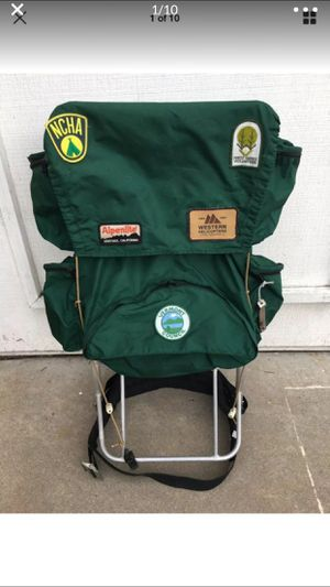 Vintage Hiking Backpack with vintage patches for Sale in El Cajon, CA