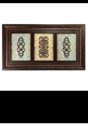 GORGEOUS LARGE DARK PICTURE FRAMED WALL ART SHADOW BOX / CUADRO GRANDE MARCO OSCURO for Sale in Miami, FL