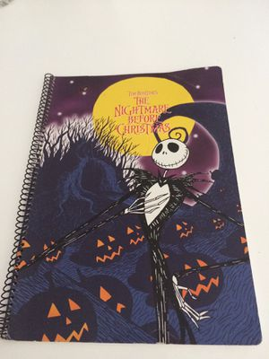 Nightmare before Christmas notebook vintage for Sale in Miami Gardens, FL