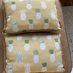 Set Of Two pineapple Pillows for Sale in Santa Monica, CA