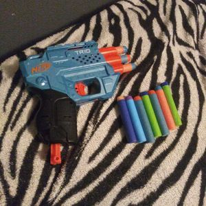 Trio Nerf Gun 60ft Range!!! And 10 Nerf Bullets!!! for Sale in Winter Haven, FL