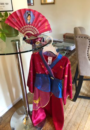Mulan vintage costume original Disney 6/6X with fan and tiara for Sale in Old Bridge Township, NJ