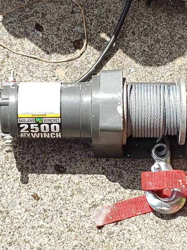 Badlands 2500 pound winch