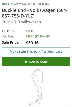 VW, bucke, car part, seat belt, Audi, New. for Sale in Plantation, FL
