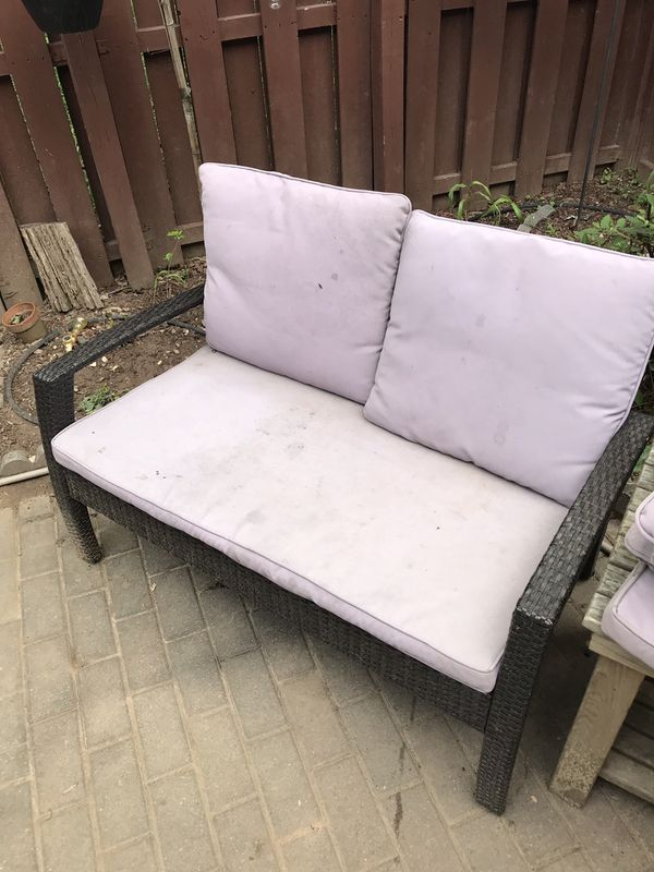 Patio furniture with cushions