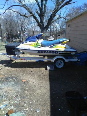 Sea doo & double trailer with toolbox for Sale in Wichita, KS