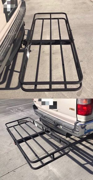 New in box XL large 62x23x5 inches 2 inch receiver mount hitch mount travel luggage basket rack 500 lbs capacity with pin canasta de enganche for Sale in Santa Fe Springs, CA