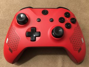 """ The Ferrari "" Custom Limited Edition Sport Red- Rare Xbox One Wireless Controller! 9mm Black Bullet Buttons 🤩 for Sale in Corona, CA"