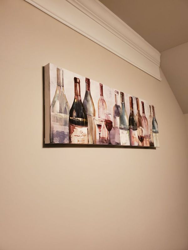 Kitchen Wall Decoration - Wine Bottles Painting