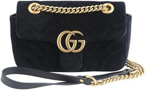 Gucci Marmont Velvet Black Canvas Shoulder Bag for Sale in Las Vegas, NV