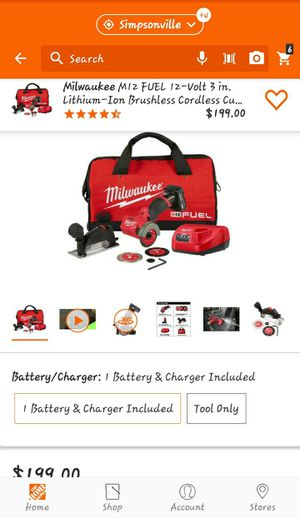 Milwaukee M12 compact cut off tool kit for Sale in Greenville, SC