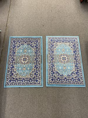 Two matching door mat size area rug brand new for Sale in Salem, OR