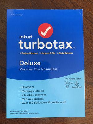 2019 TurboTax Deluxe Software Install (Read Description) for Sale in Fair Lawn, NJ