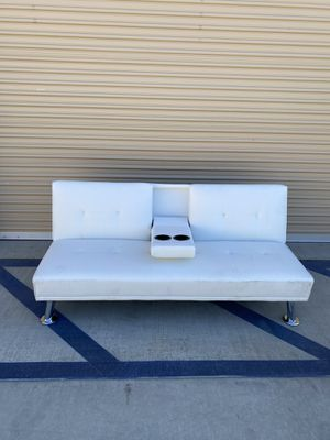 Best Choice Products Modern Faux Leather Convertible Folding Futon Sofa for Sale in Coachella, CA