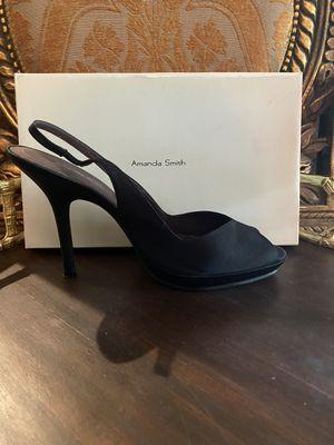 AMANDA SMITH Black Satin Heels for Sale in Spring, TX