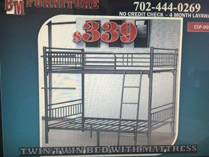 Twin/twin bunk bed w/mattresses for Sale in Las Vegas, NV