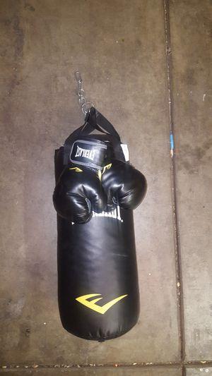 Punching bag, Boxing gloves for Sale in Las Vegas, NV