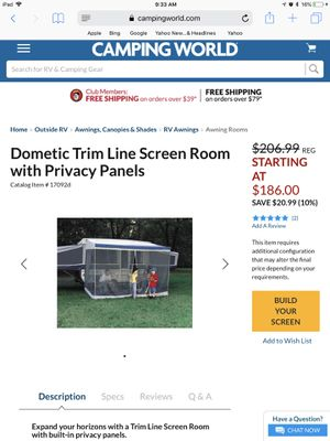 Screen room for camper 10ft canopy for Sale in Clearwater, FL