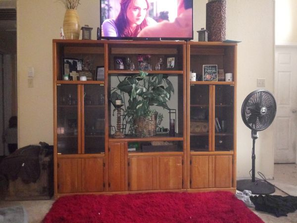 Solid Wood Entertainment Center ($75.00 OBO) TODAY NEED GONE TODAY