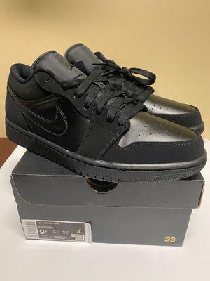 Nike Air Jordan 1 Retro Low 'Triple Black' Sneakers 553558-025 Sizes: 9.5 10 11 for Sale in Mechanicsburg, PA