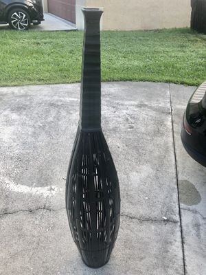 "Beautiful black rattan home decor floor vase 54"" for Sale in Plantation, FL"