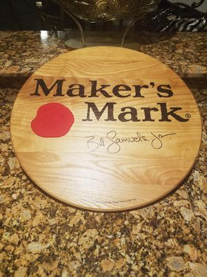 Authentic Wax Seal Oak Barrel Head Maker's Mark Bar Sign for Sale in Orlando, FL