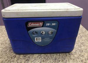 Medium Size Coleman Cooler – Blue & White for Sale in Decatur, GA