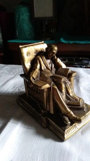 1920s Bronze Bookend The Sleeping Scholar for Sale in San Bruno, CA