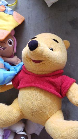 Stuffed animals, talking pooh bear, neck rest, cloth books for Sale in Clovis, CA