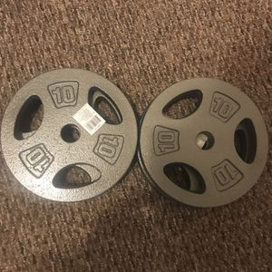 4 Plates Of 10 LB Each for Sale in Torrington, CT
