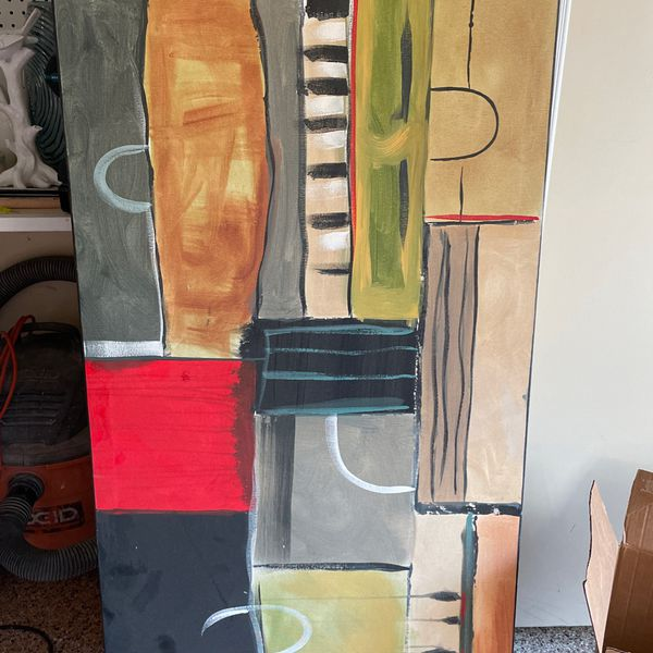 26 X 60 Abstract Painting