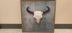 Cow Skull Painting Canvas for Sale in Tacoma, WA